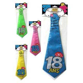 Cravate dédicace anniversaire 18 ans