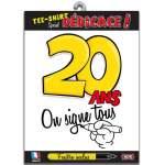T-shirt dédicace anniversaire 20 ans