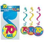 3 guirlandes spirales 70 ans