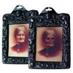 Cadre photo horreur femme squelette