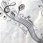10 serviettes thème musique