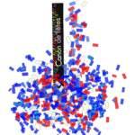Canon à confettis bleu blanc rouge