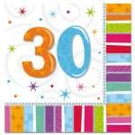 16 serviettes anniversaire 30 ans