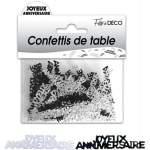 Confettis de table Joyeux anniversaire noir & blanc