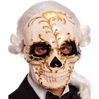 Masque tête de mort décoré