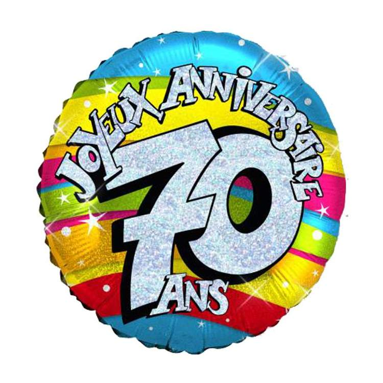 ballon joyeux anniversaire 70 ans m ga f te. Black Bedroom Furniture Sets. Home Design Ideas