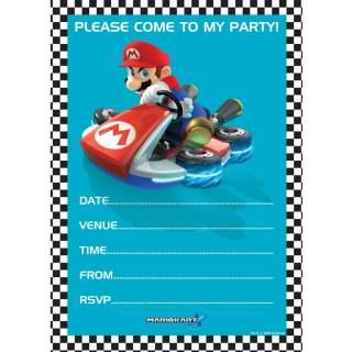 20 cartons d'invitation Mario Kart