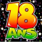 20 serviettes anniversaire 18 ans