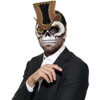 Masque squelette steampunk