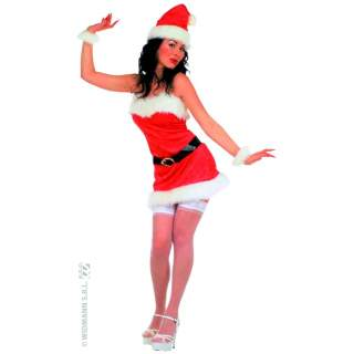 Costume Miss Santa sexy flanelle
