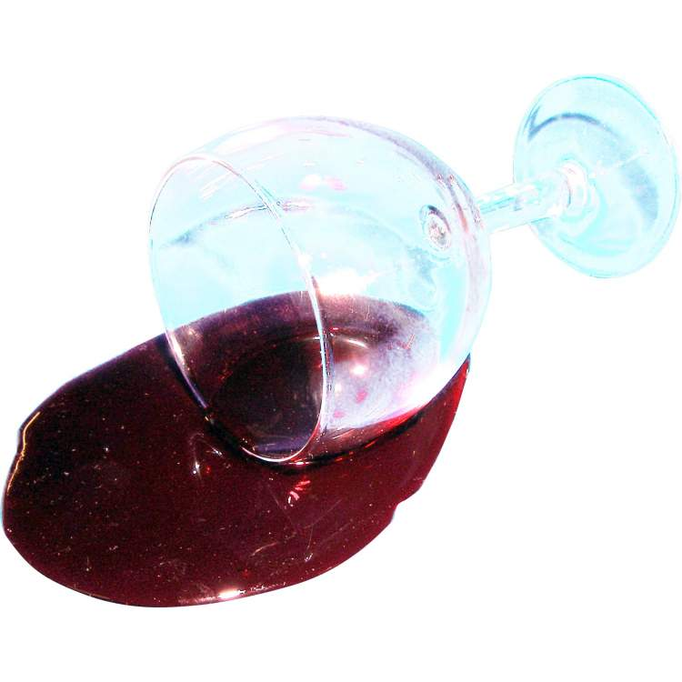 verre de vin rouge renvers m ga f te. Black Bedroom Furniture Sets. Home Design Ideas