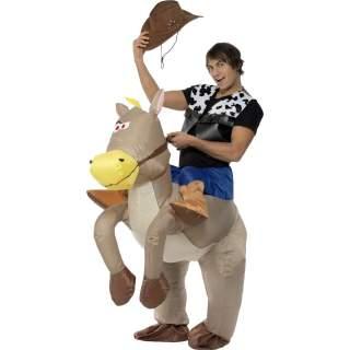 Déguisement de cow-boy sur cheval