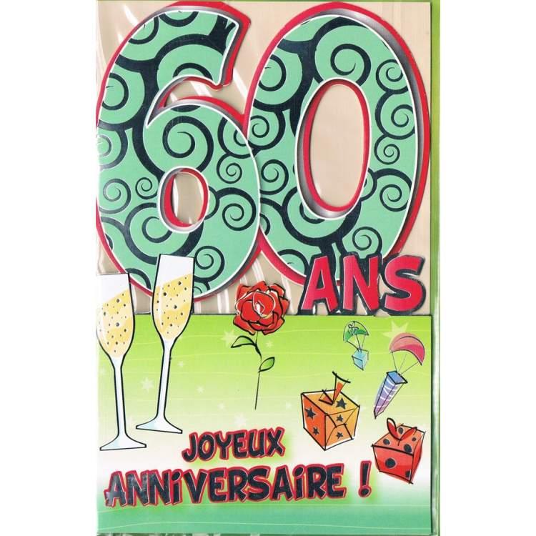 Carte Anniversaire 60 Ans A Imprimer