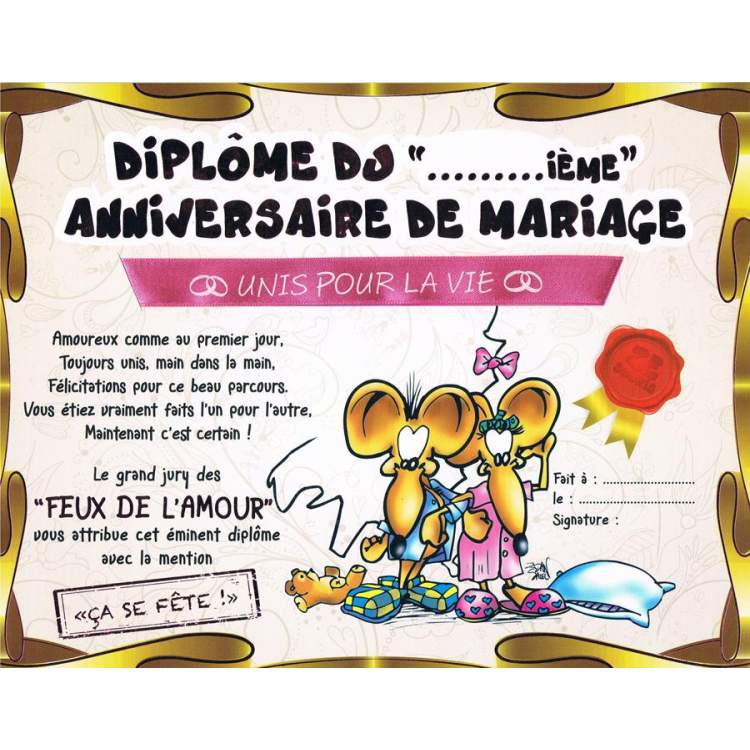 Anniversaire De Mariage 1 An