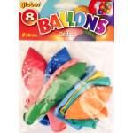 8 ballons chiffre 1