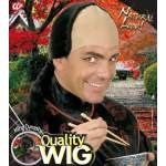 Perruque noire chinoise avec tresse