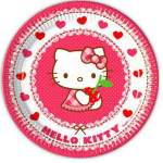 8 assiettes carton Hello Kitty